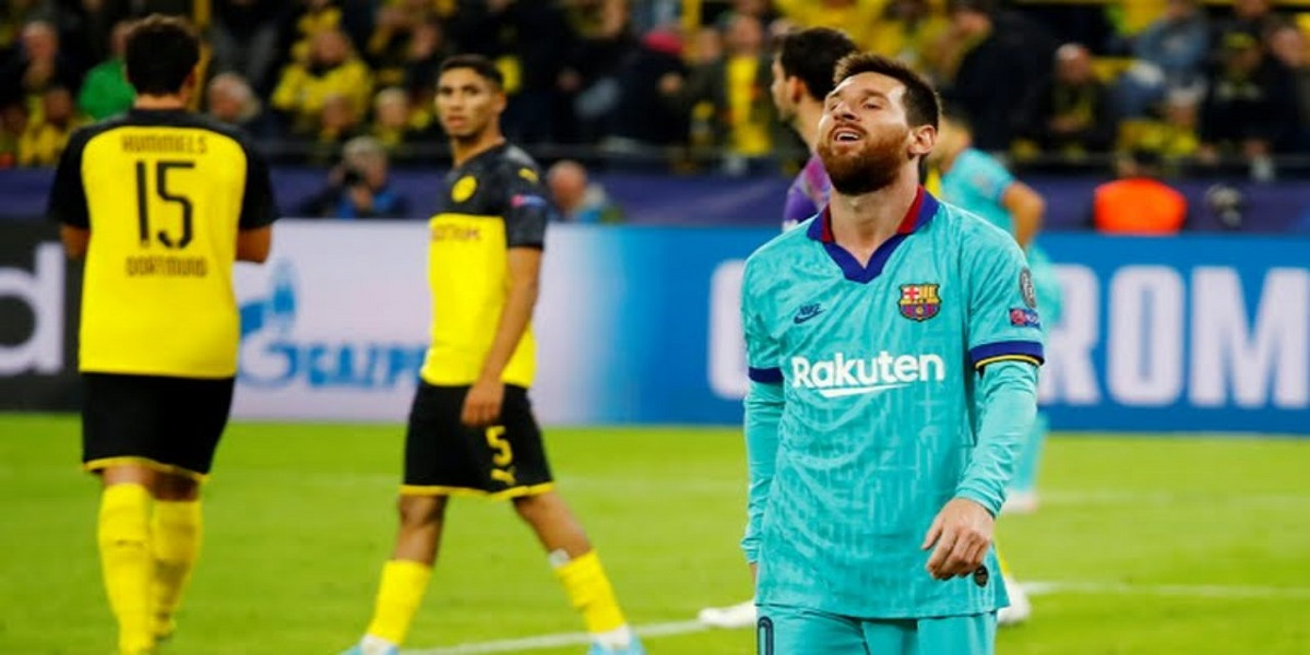 foto do jogo Barcelona x Borussia Dortmund