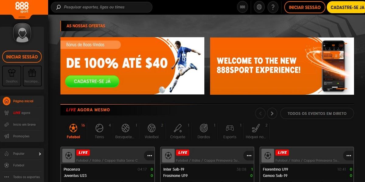 foto3 Site da 888Sport abrangente mas exige melhorias funcionais e técnicas
